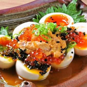 Egg gout-boiled egg, sea urchin, how much, flying fish ~