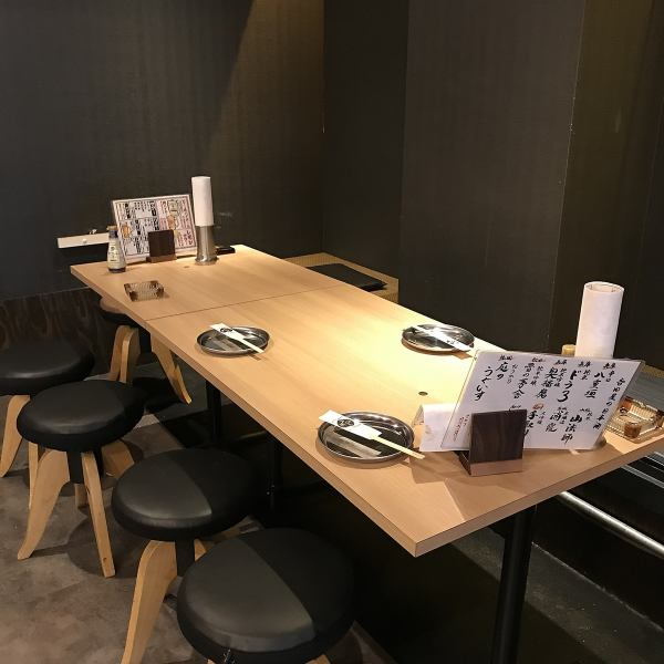 Table seat that can be used from 2 people up to 25 people.Using a blind into a half-room space.You can relax relaxed without worrying about the surroundings.Please enjoy the fish cuisine which boasts of the interior that stuck with the details of the interior and boast.