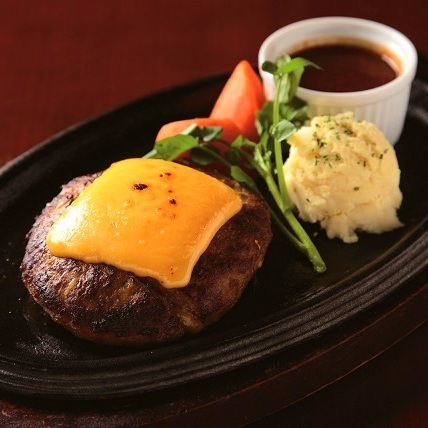 Handmade hamburger steak
