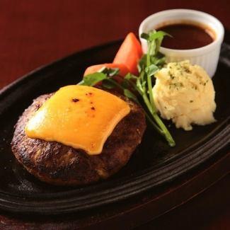 Handmade hamburger steak