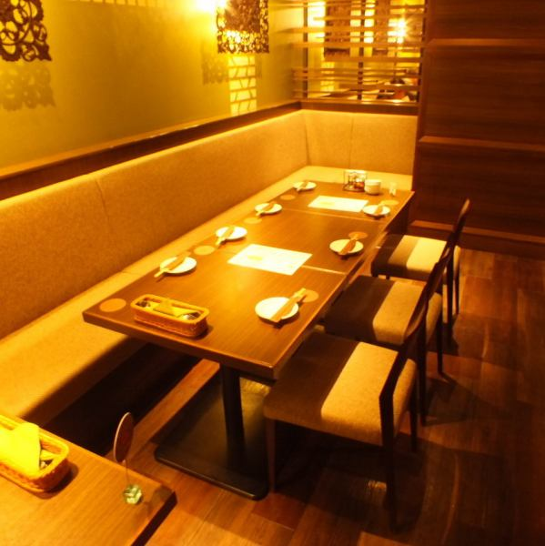 【~ Up to 16 people OK ♪ authentic Asian space ★ private】 10 semi-private rooms perfect for banquet after name ★ Asian cuisine not only, but also stick to the interior, also those who would like to enjoy the space by all means.Spend time in relaxing space as well as cooking, you can enjoy the air of Asia ♪