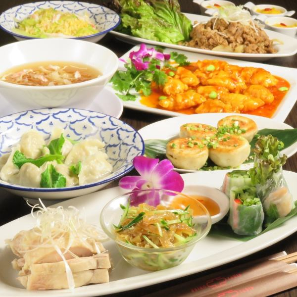 LIMITED TIME 【Special Lunch Menu】 <Asian Ranch> 1500 yen to taste with the ruling of the day <Chinese present> 1800 yen!