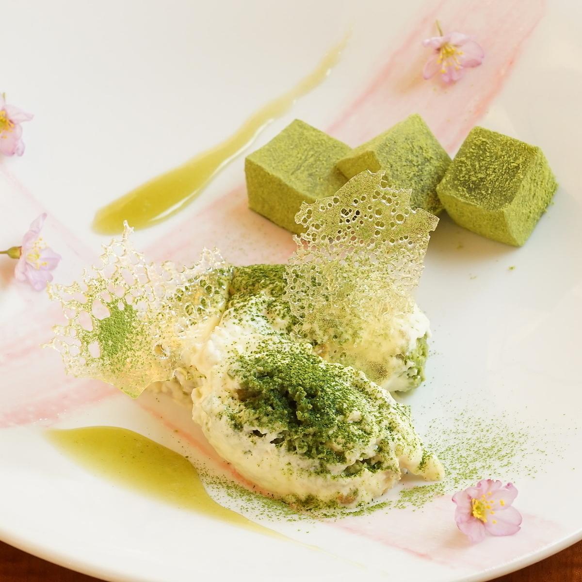 Ise Matcha的大豆提拉米苏与来自三重县的精心挑选的鸡蛋