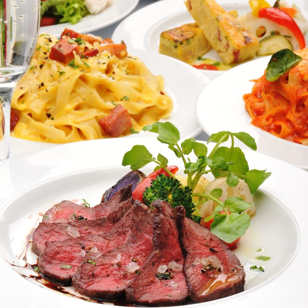 Raw pasta Hokkaido cow Tagliata such as special set 5,000 yen to choose