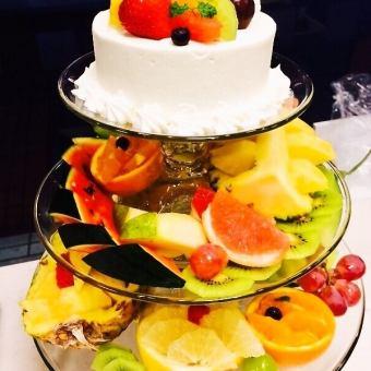 【net予約ok☆】【配達可能☆】ケーキ付!フルーツの盛り合わせ 5000円~
