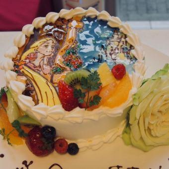 【net予約ok☆】お皿に盛り付け!キャラクターデコレーションケーキ4号4100円~