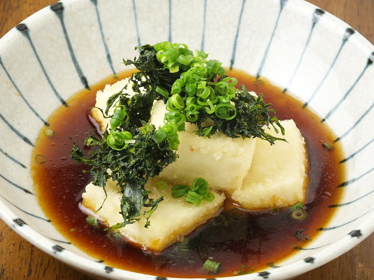 あおさ海苔たっぷりの揚げ出し豆腐