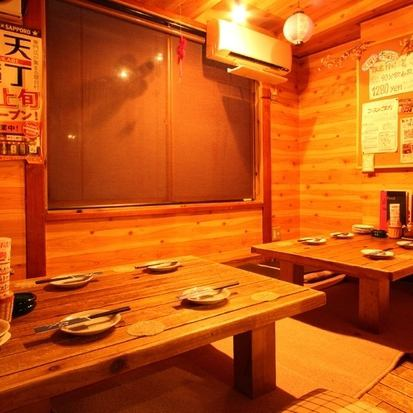 【Digging Tatami Odaiba】 4 people × 2 tables ♪ Please take off your shoes and make yourself comfortable Let's have a home-like atmosphere Popular for up to 15 people!