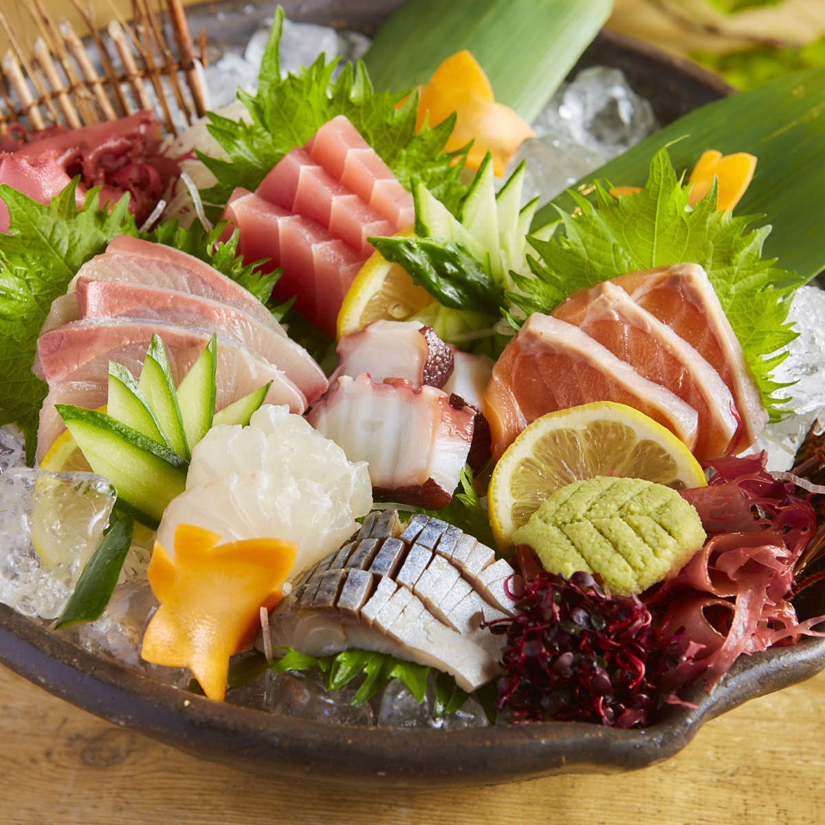 鲜鱼生鱼片6分