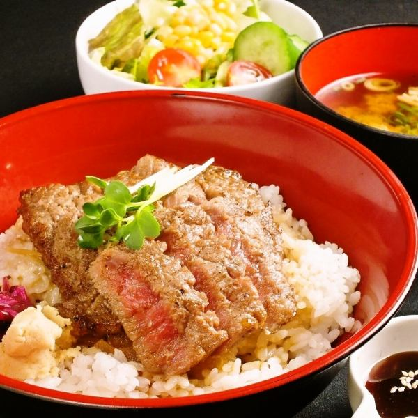 Steak bowl can white butcher specialties! Matrix! Average, large Sheng, there is TokuSakari ♪ ※ lunch limited