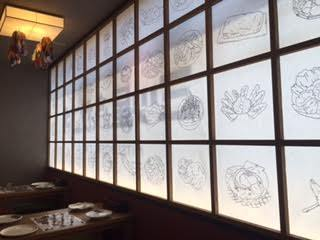 6 to 10 people: The side of the shoji is bright and relaxed leaning against the wall and you can relax