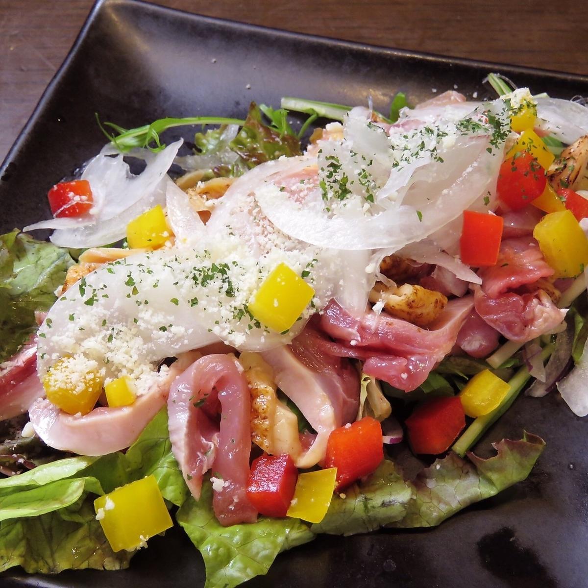 鶏と彩野菜のカルパッチョ