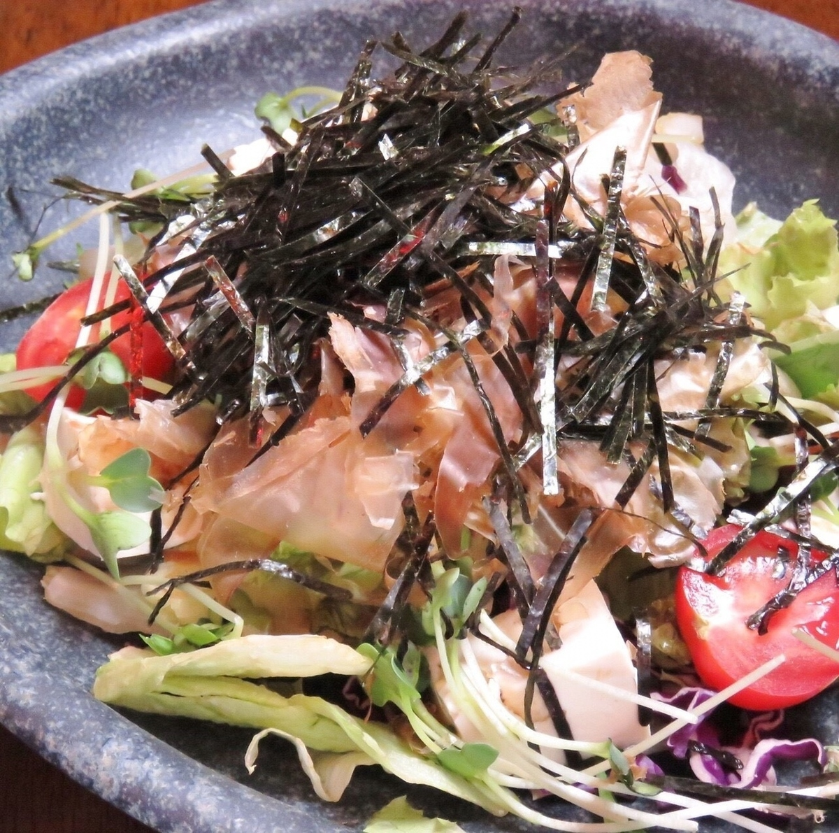 Japanese style salad with tofu