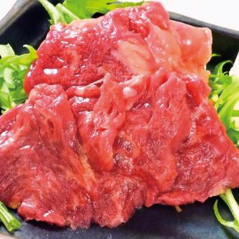 Carefully selected horse meat sashimi (skirt steak)