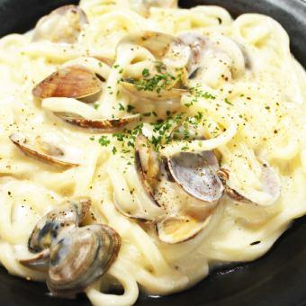 Clam chowder udon