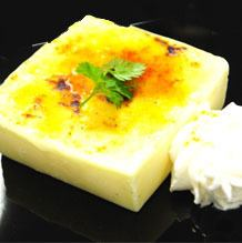 Vanilla Dolce of cream brulee