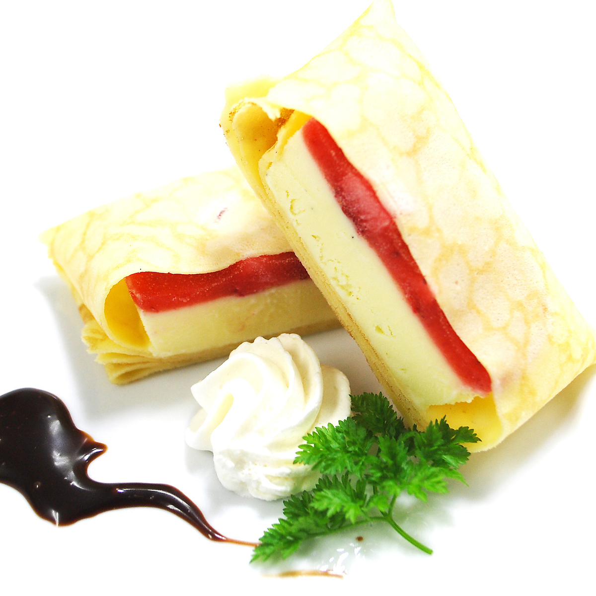 Strawberry Dolce's Crepe Wrapping