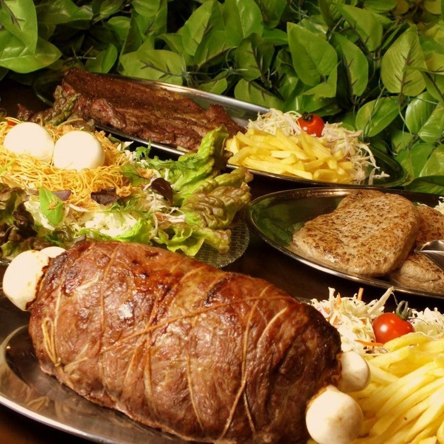 All-you-can-drink all-you-can-eat ⇒ 1780 yen is new ♪ Banquet at a shop with dinosaurs ♪