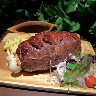 【恐龙特产!2人〜好!】古老的骨骼套餐⇒6道菜/ 2580日元(不含税)