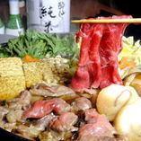 ◎ちょっと贅沢◎ 国産和牛のすき焼きコース@¥6,000-(税込)3時間飲み放題付き