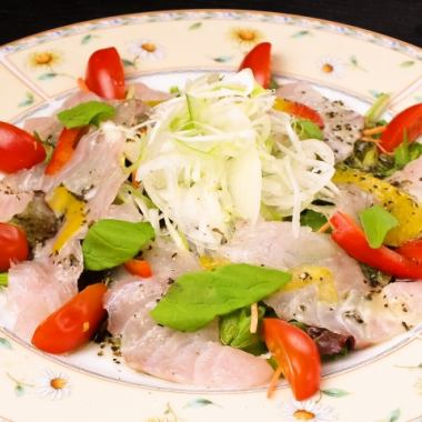 Seasonal fresh fish carpaccio