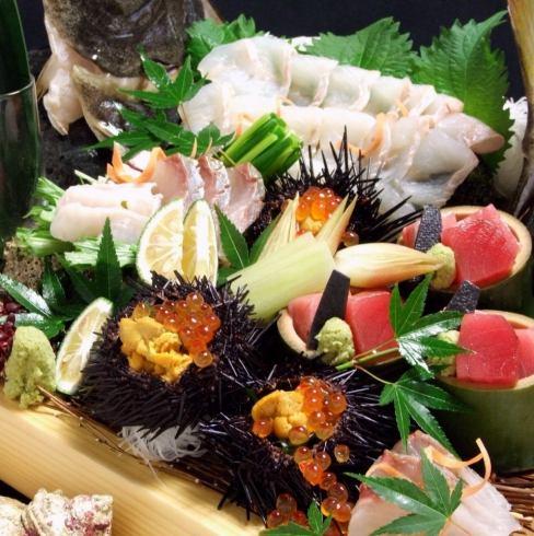 季节性鱼类和贝类非常激动!享受Genkai的快乐......