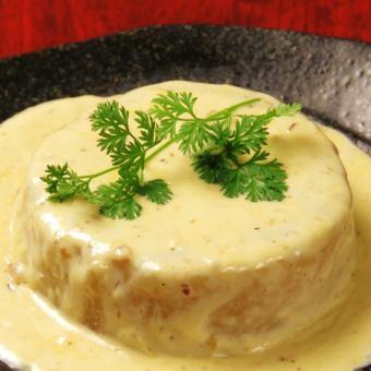 大根のポルチーニ茸クリームソース