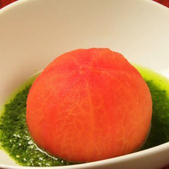 丸ごとトマトのあっさりジュノベーゼソース