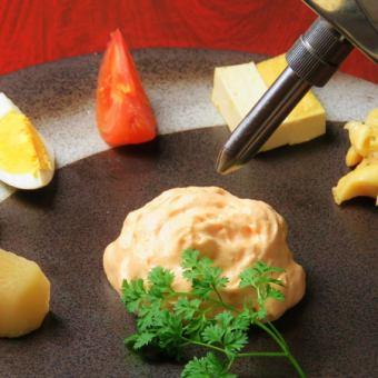Bistro oden dish - Espuma of thick shrimp -