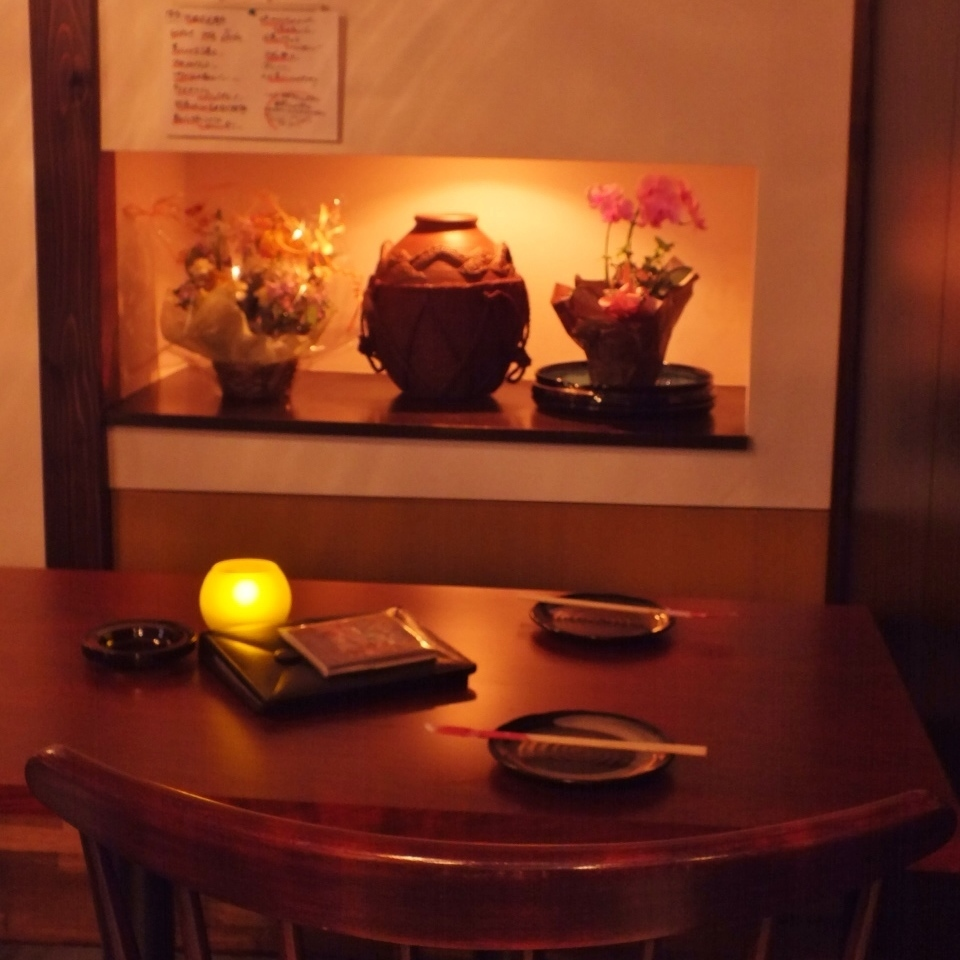 There is also a private room for two people, perfect for dating ☆ You can get drunk in a fashionable space ♪