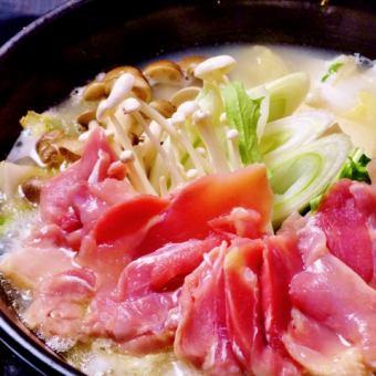 Chicken of plain hot water Mizutaki
