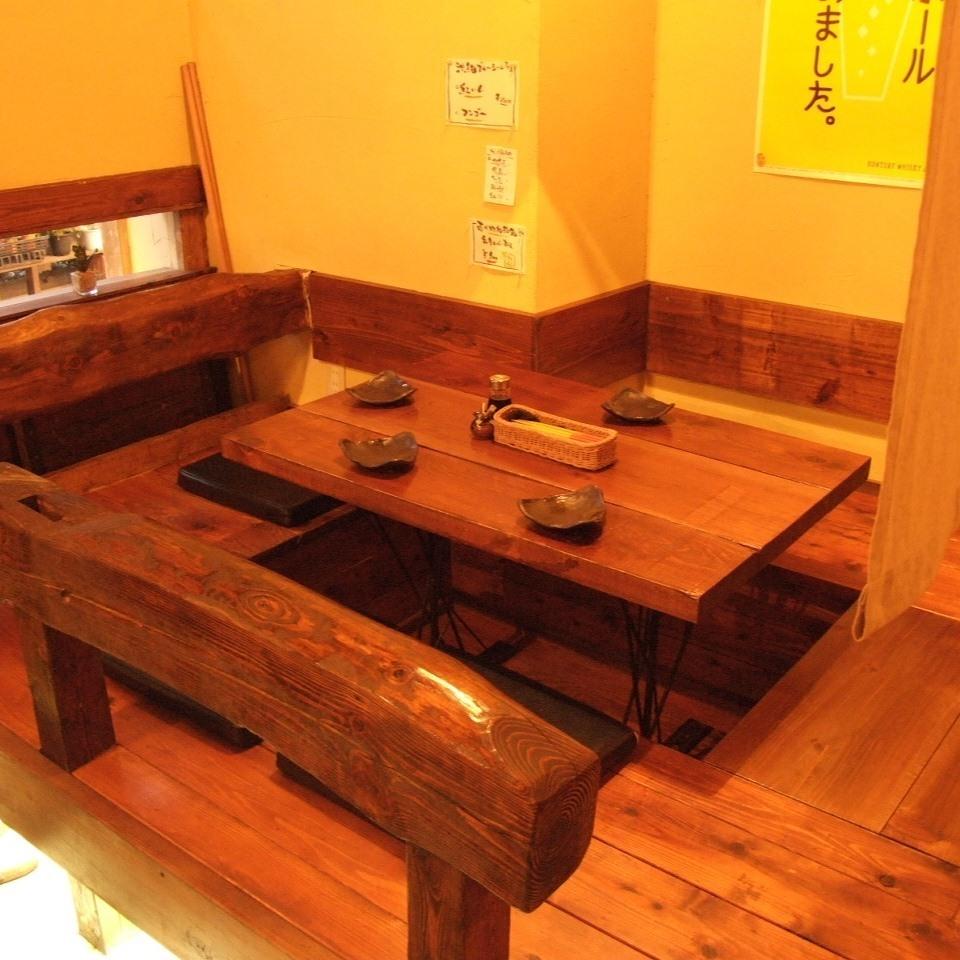 它也将是带隔板的半隔间风格!在可挖掘的榻榻米房间放松!