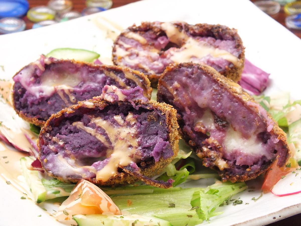 붉은 고구마 치즈 고로케