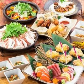 """【Sun - Thursday Limited】 Super Special price 10 items & Loose 180 minutes for drinks on weekdays All you can drink 5000 yen ⇒ 3600 yen """"Plum course"""""""