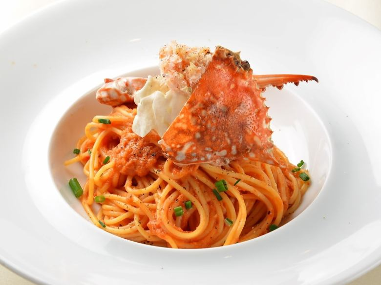 ★ Tomato Cream Sauce with Premium Pasta Zwai Crab and Migrant Crab