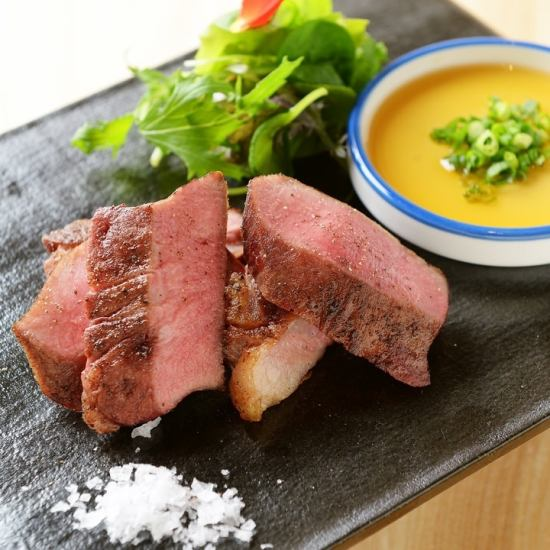 Various prepared meat dishes including specialty beef tongue prepared variously ★