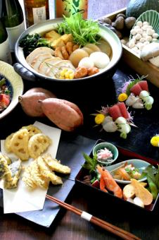 Kamomeya特產!9種熱的關東煮火鍋當然所有你可以喝2小時【4500日元8件】