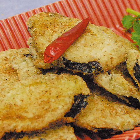 Deep fried eggplant from Okayama Prefecture! Deep-fried peppers