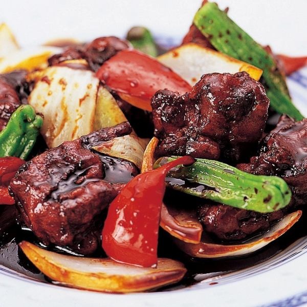 Sweet and sour pork with homemade black vinegar