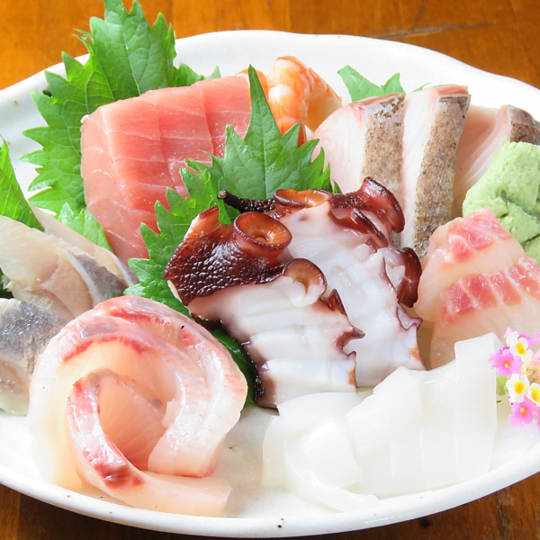 【Fresh Fish Assortment】 with the most seasonal fish of the day