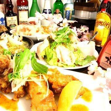 2 hours eating and drinking all you can eat 335 species ⇒ 2500 yen (tax included)