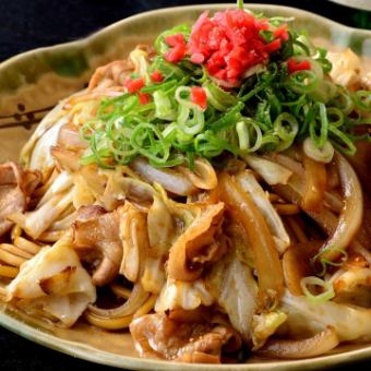 Noodles are custom made! Yakisoba (sauce)