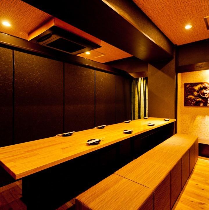 【Tamakiri / Hayatake / Evening Fog】桌子私人房间。树的温暖是好的。