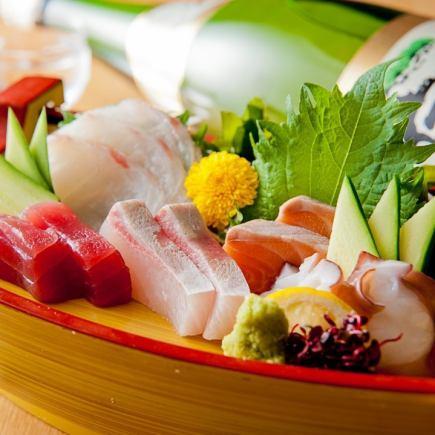 肉も魚も楽しむ新年会!税込5500円「宴コース」お鍋なしでバランス良く!特典ハイボールOK!