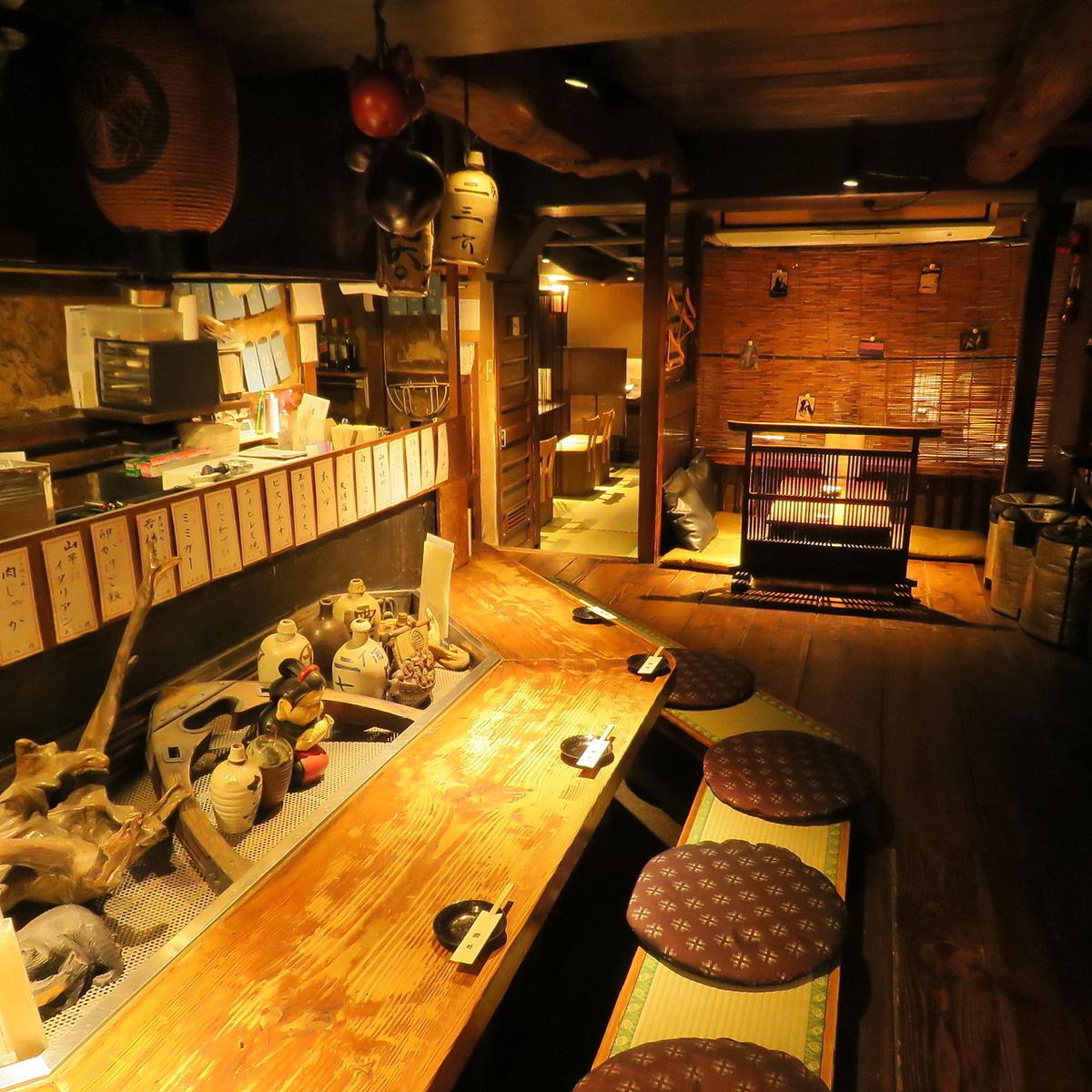 在商店里拍摄了东海道的五十三个