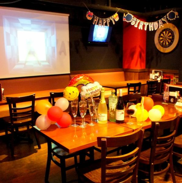 Party birthday party, birthday parties, second party, various banquets are sure to be in Seouls ♪ Enjoy delicious rice, then darts get excited! After 20 people ~ Private charter ◎ Privilege Private projector, monitor, Free lending of bingo, microphone etc.!