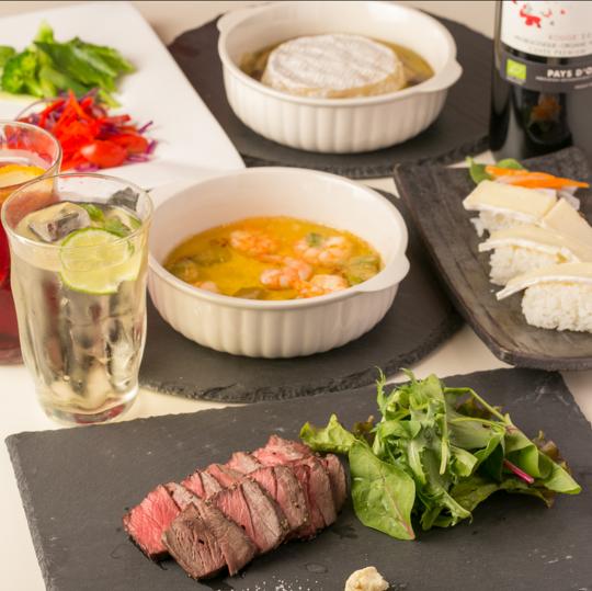 【ディナー】彩りを感じられるお野菜・オリジナルのチーズ料理やお肉も充実♪