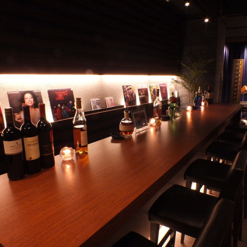 If you want to talk calmly, this counter is recommended ♪ Friends, couple, of course, even for one person! It is unique in our shop if you can use various ways ♪ ♪ 【Charged banquet wedding 2nd party party party women's cocktail Akasaka bar wine whiskey 】