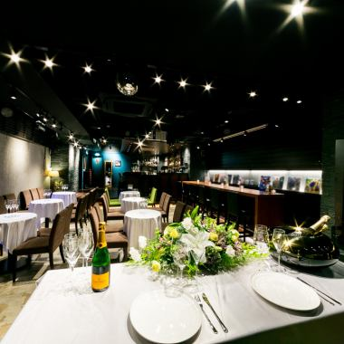 【Private place】 We can accommodate charter party from 20 people.It is recommended for large banquets such as wedding ceremony and welcome reception party, launch.We will also open 17: 00 ~ if you can consult with advance booking ten days in advance, please do not hesitate to ask ♪ ♪ 【Charged Banquet 2nd Meeting Wedding Party Women's Association Cocktail Akasaka Bar Wine Whiskey】