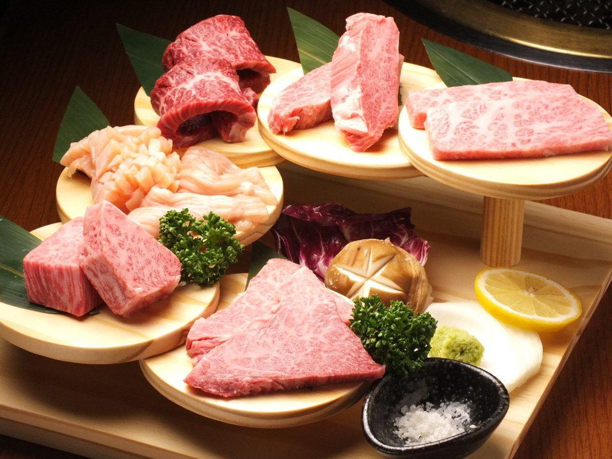 A5级国产品牌牛肉惊喜的价格!最好的肉在顶级海鲜餐!♪期间预订